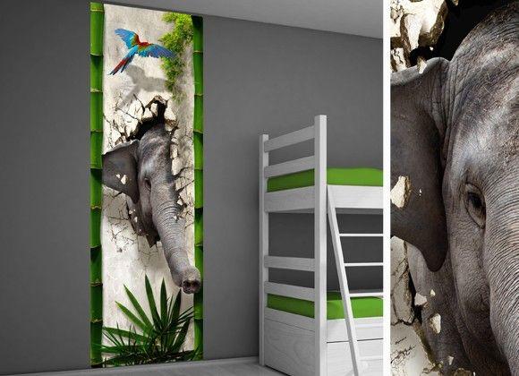 Muursticker paneel jungle - Jungle kamer idee | Jungle kamer idee | 101 kinderkamer ideeën & decoratie
