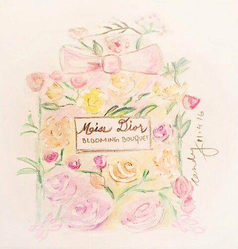 My favourite #perfume #hobby #sketch