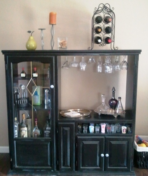 Our new bar made out of our old TV cabinet | furniture | Pinterest ...