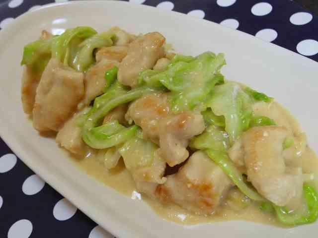 味噌マヨ♪鶏肉×キャベツ♡炒めの画像