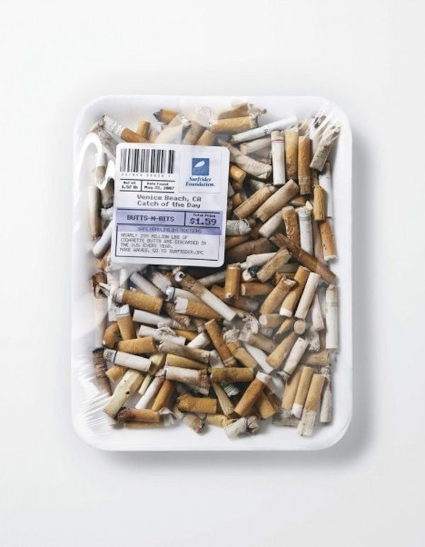 For Ocean Pollution Awareness: Used Condoms, Cigarette Butts 'Sold' At Markets - DesignTAXI.com