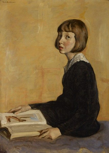 ruth p. bobbs(1884-1973), portrait of laura owen miller (mrs. julian bamberger), 1924. oil on canvas, 36 x 25 7.8 inches. indianapolis museum of art, indiana, usa