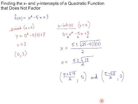 x intercept formula quadratic function  X Intercept Formula Quadratic Function Ten Ideas To Organize ...