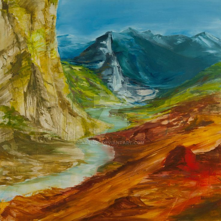 River in the valley by art-ori.deviantart.com on @DeviantArt