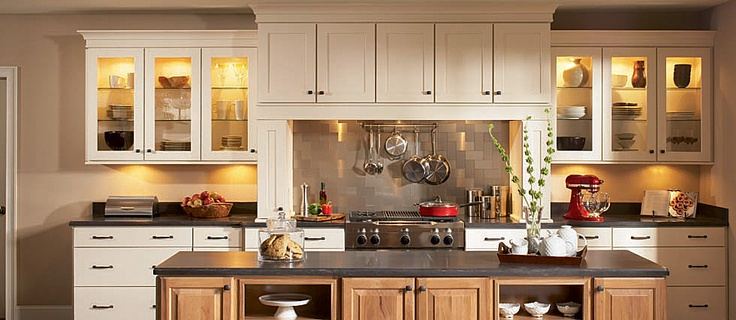 Shenandoah mission cabinets these are a top contender for our kitchen