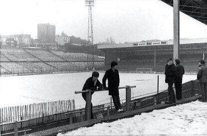 The Valley, Charlton Athletic snowed off in the 1980s.