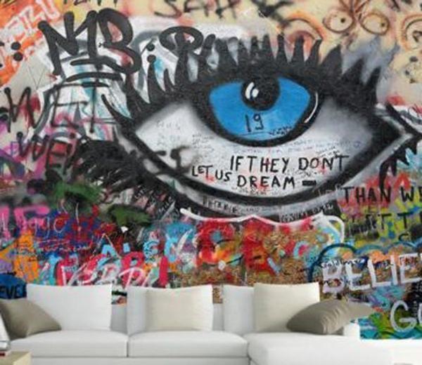 Customize Wall Mural Graffiti Wall Art Graffiti Wallpaper Graffiti Wall