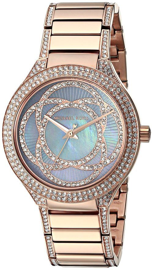 http://www.newtrendsclothing.com/category/michael-kors-watch/ Michael Kors Women's 'Kerry' Quartz Stainless Steel Casual Watch