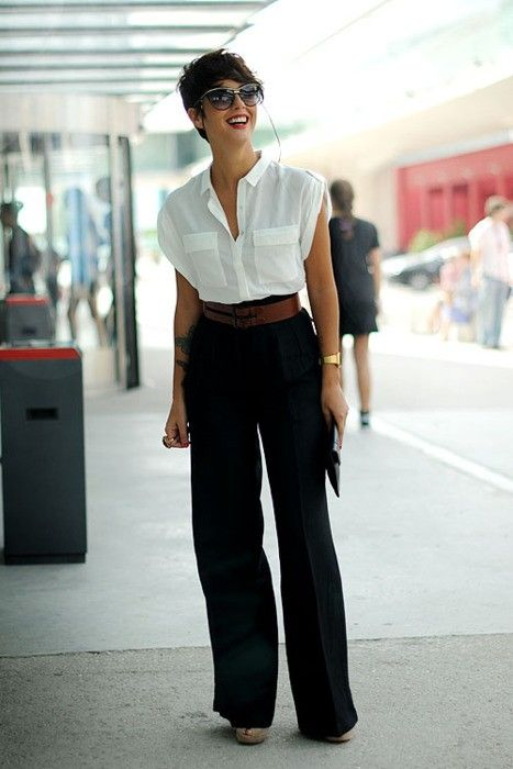 how to wear black trousers white blouse the fashion co