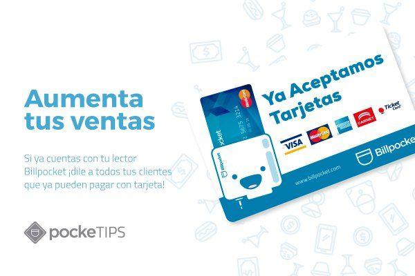 ¡Si no le avisas a tus clientes que aceptas tarjeta podrías estar perdiéndote de ventas más grandes! #CobrarEsSimple