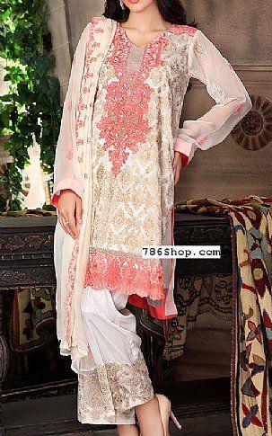 Off-White Chiffon Suit | Buy Sanam Saeed Pakistani Dresses and Clothing online in USA, UK
