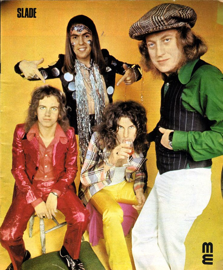 I remember collecting all the posters out of my music magazines; I might have used them to cover my school books. Slade was one of them.
