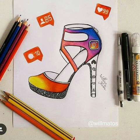 Instagram [as a shoe] (Drawing by WillMatos @Instagram) #SocialMedia