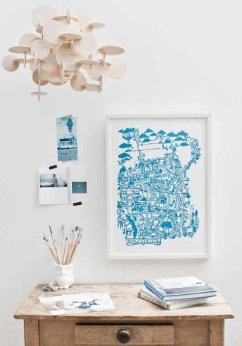 City+map+print+-+San-Francisco,+Blue