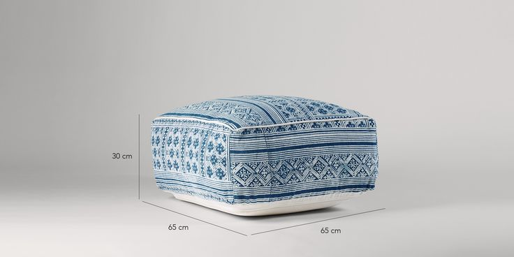Swoon Editions Accent pouffe in Persia blue - £139