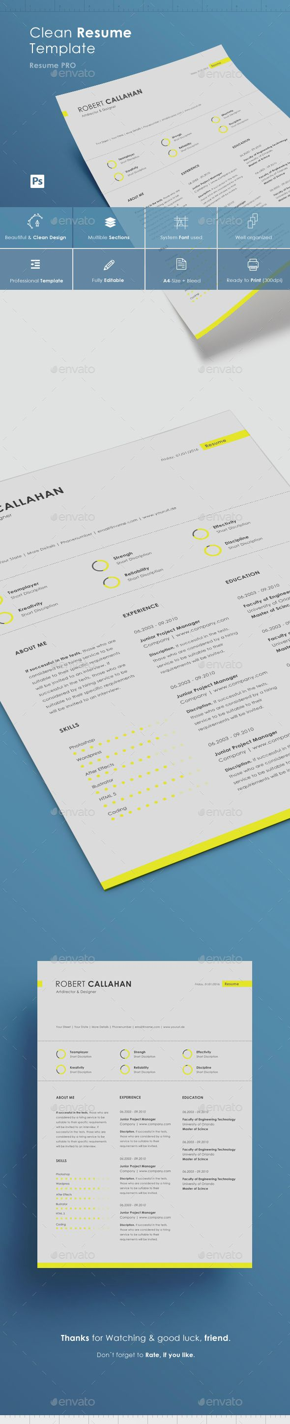 Buy Yellow CV by Haluze on GraphicRiver
