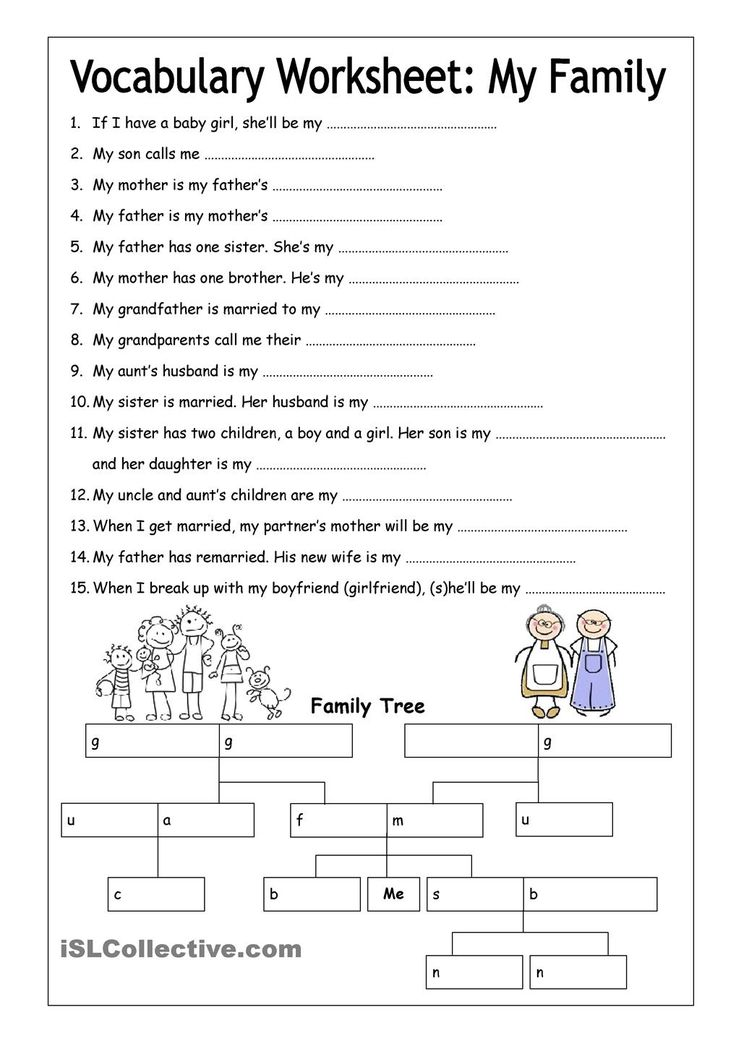 vocabulary worksheet my family medium english 6th grade pinterest best vocabulary. Black Bedroom Furniture Sets. Home Design Ideas