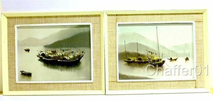 Junk Boat Singapore Oil Paintings