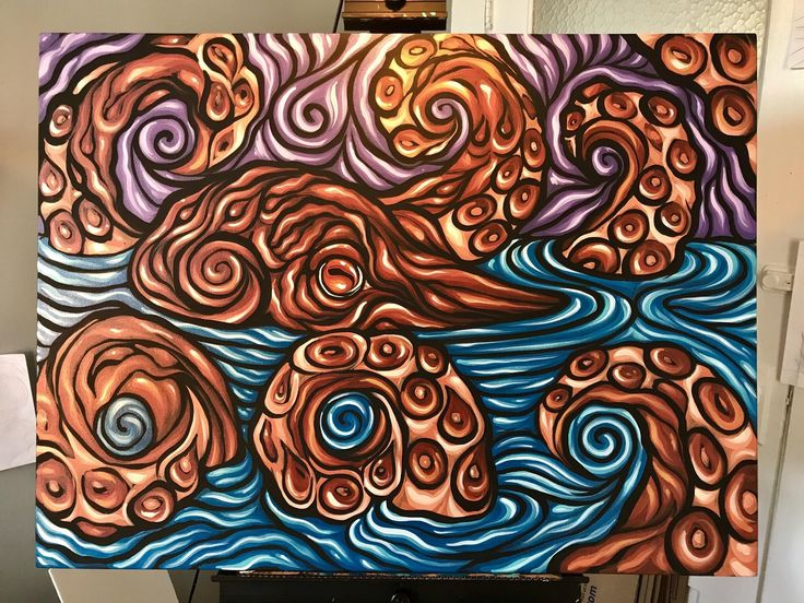 octopus painting   fun funny funny pics