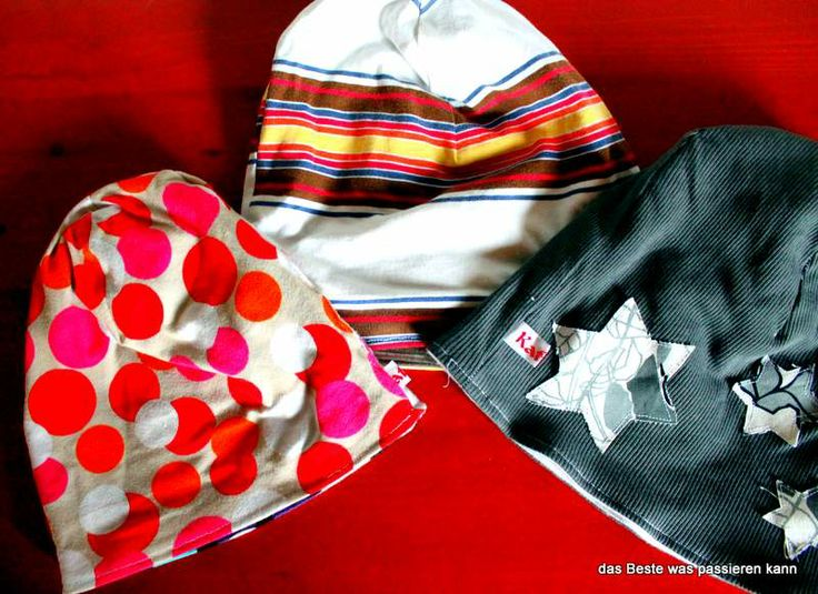 Mützen aus Shirts / Beanies made from old shirts / Upcycling