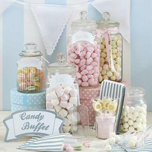 This table looks sweet! The messages on each jar make me smile!
