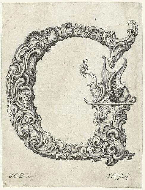 Letter 'G' (Jan Chrystian Bierpfaff + Jeremiasz Falck, 1656) by peacay, via Flickr