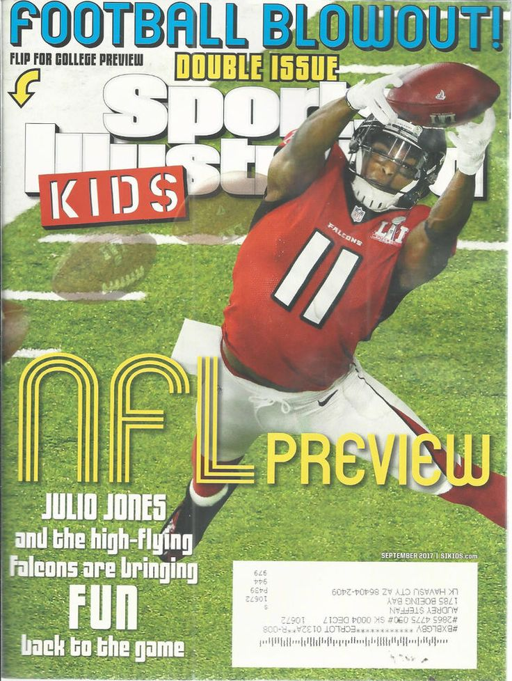 Sports Illustrated Kids Football Julio Jones Sam Darnold September 2017 Cards   #Doesnotapply