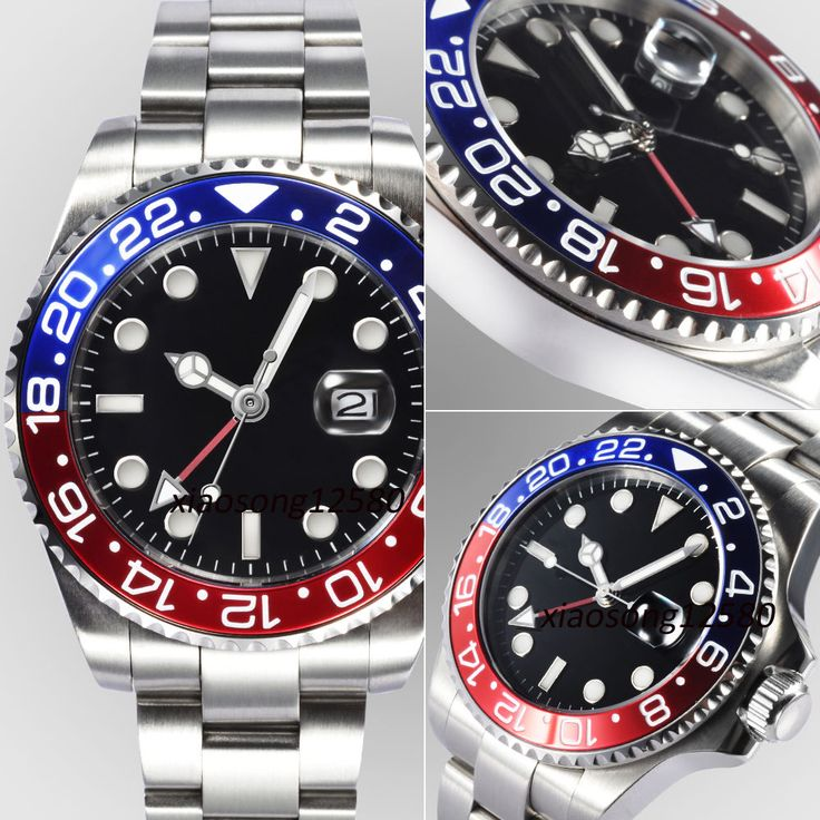 "US $118.00 Parnis GMT ""Pepsi"" with Deepsea Challenge Clasp <approved>"