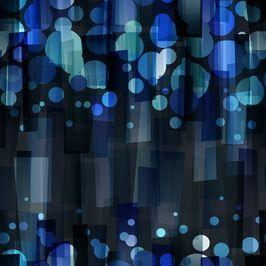 Circles Blues by Petroula Tsipitori Seamless Repeat Vector Royalty-Free Stock Pattern