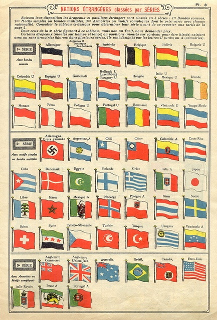 flags in 1934 French catalog