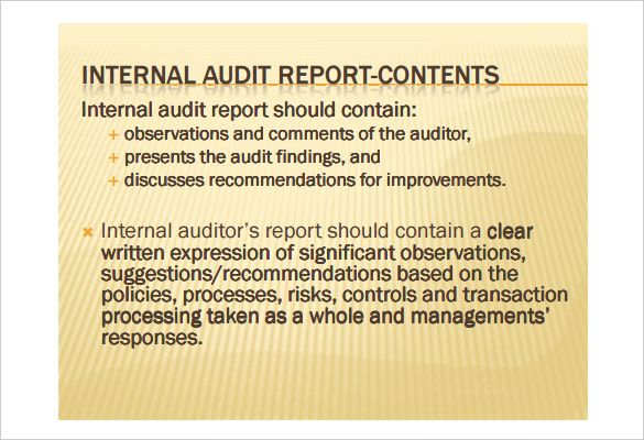 Internal Audit Report Template - Download this Internal Audit - external audit report