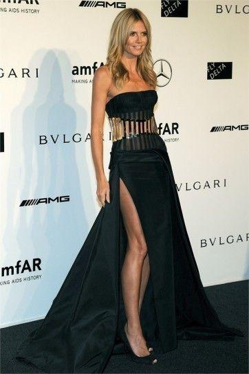 Heidi Klum in abito lungo