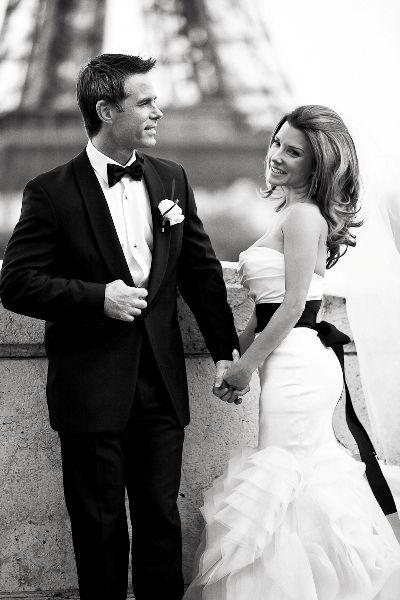 50's glamour movie star style wedding in Paris
