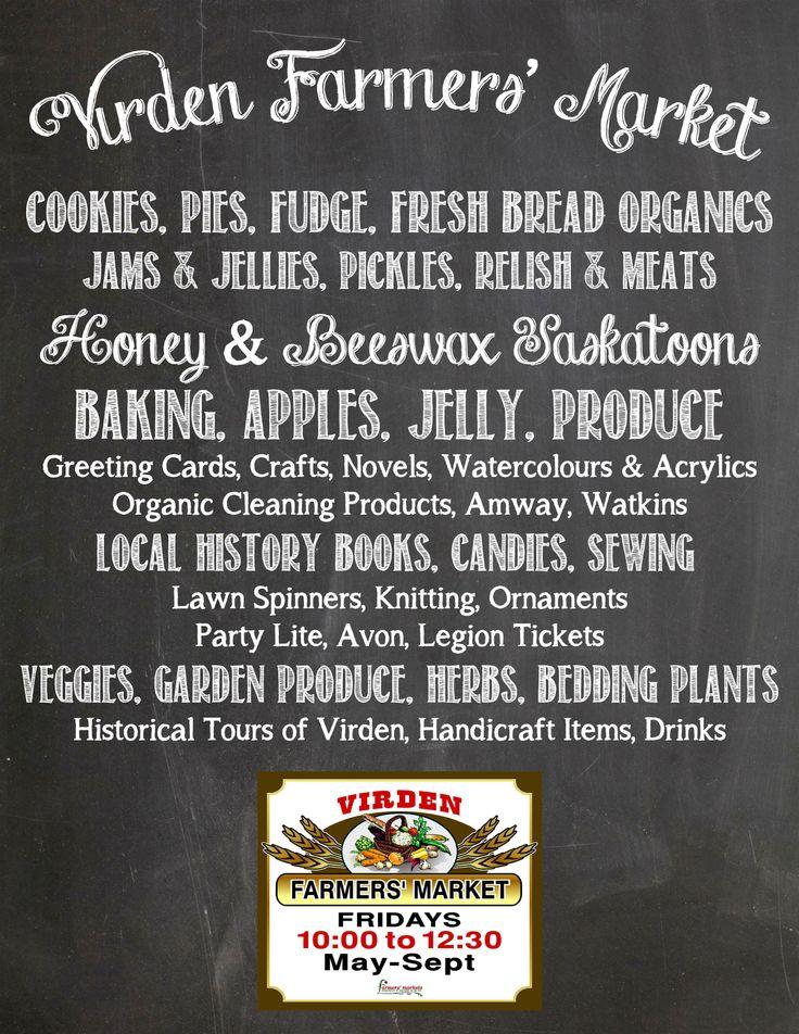 Virden Farmers' Market Virden Manitoba info