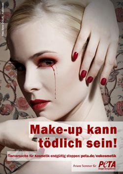 Schönheit muss nicht grausam sein: Ariane Sommer fordert mit neuem PETA-Motiv das Ende von Tierversuchen für Kosmetik