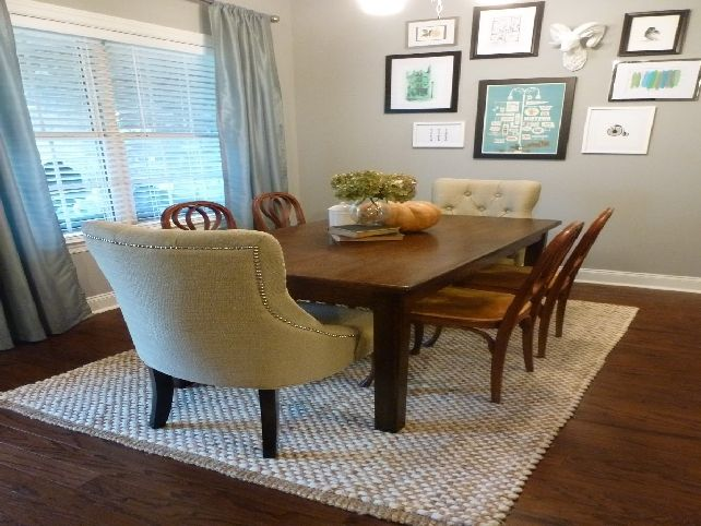 76 best images about dining room on pinterest real for Dining room rugs 5x7
