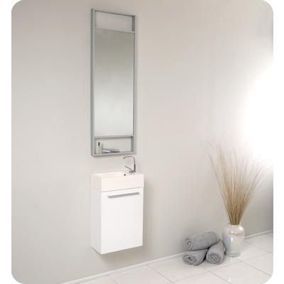 Fresca - Pulito Small White Modern Bathroom Vanity With Tall Mirror - FVN8002WH - Home Depot Canada