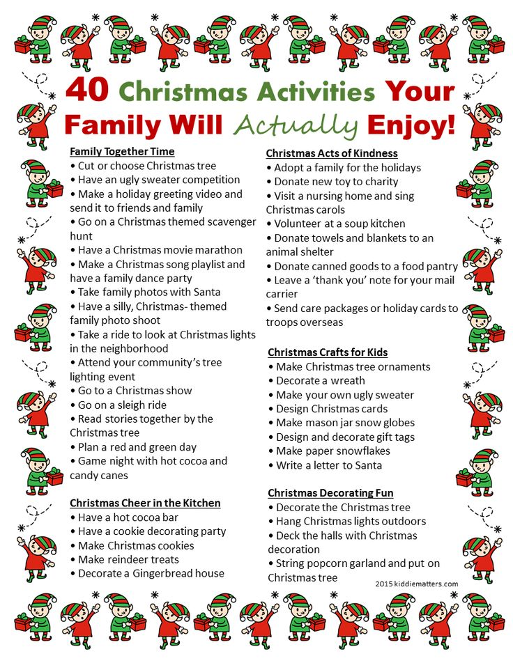 40 Christmas Activities Your Family Will Actually Enjoy
