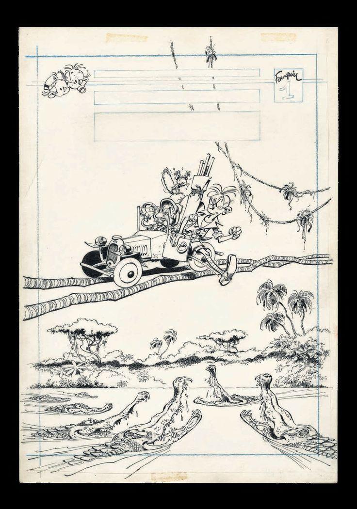 """Couverture pour le hors-série """"L'héritage"""", 1976  Franquin"""