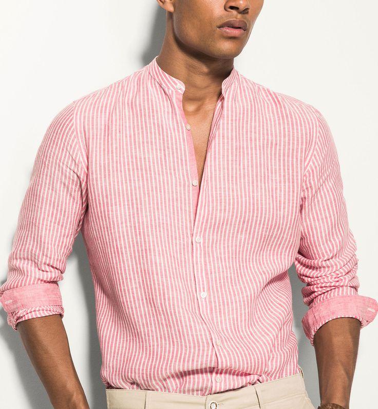 106 best men's linen images on Pinterest   Linen shirts, Menswear ...