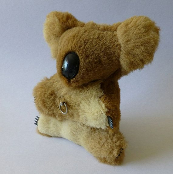 Vintage windup musical koala toy made with Kangaroo fur ...