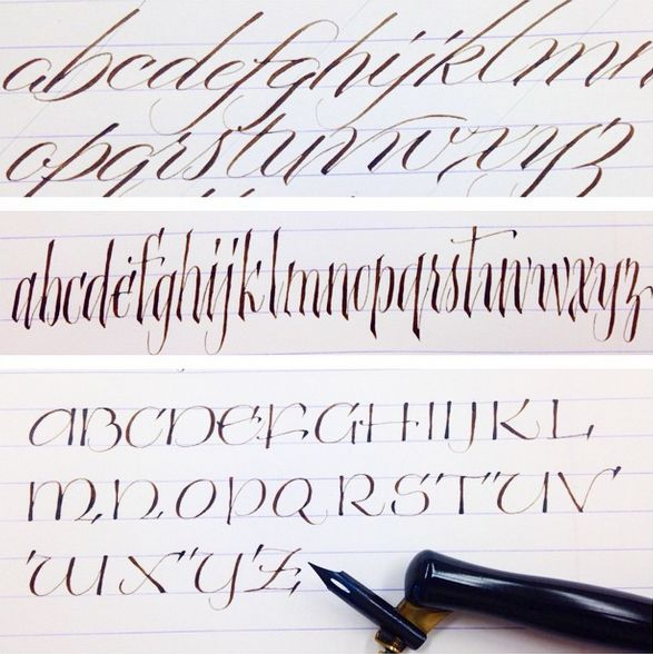 Best pointed pen images on pinterest penmanship