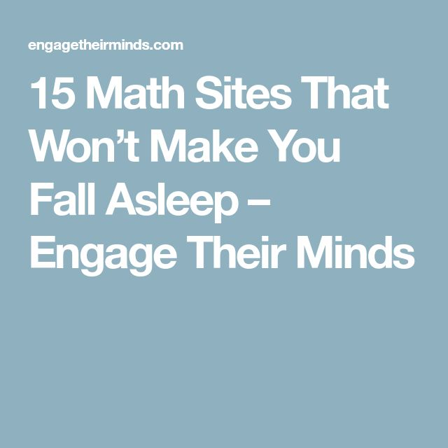 15 Math Sites That Won't Make You Fall Asleep – Engage Their Minds