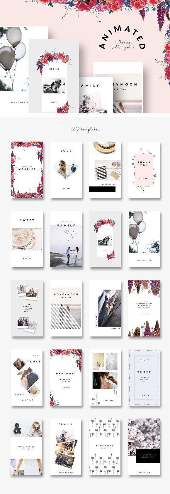 Animated Instagram Stories Wedding Instagram Design Card Design Instagram Template