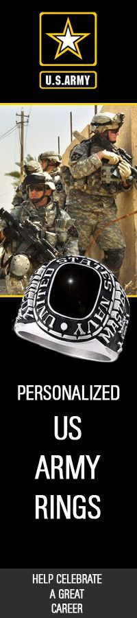 Celebrate a great career in the US Army with Personalized custom Military rings : #us #Military #GoArmy #USMilitary http://www.us-military-rings.com/Army-Rings.html