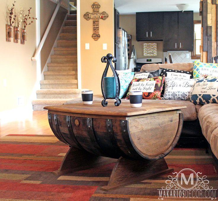 best 25+ wine barrel coffee table ideas on pinterest   wine barrel