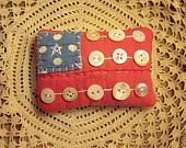 .Buttons Flags, Pin Cushions, Americana Pillows, Cute Ideas, Buttons Boxes, July, Pincushions, Grandma Buttons, Crafts