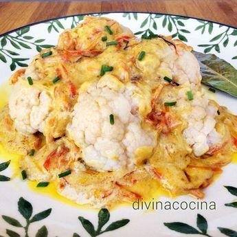 Hay distintas recetas para preparar esta coliflor al curry. La que te proponemos es muy sencilla y se puede servir caliente, templada o fría.