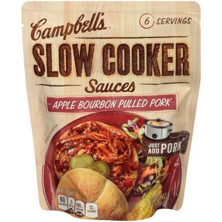 Campbell's Slow Cooker Sauces Apple Bourbon BBQ, 13 oz