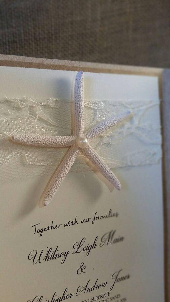 Beach Wedding Invitations Destination by JenniferGinvitations